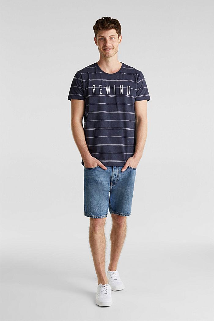 Jersey shirt met tekstprint, NAVY, detail image number 2