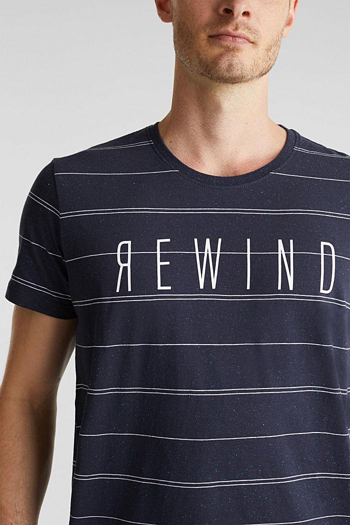 Jersey shirt met tekstprint, NAVY, detail image number 1