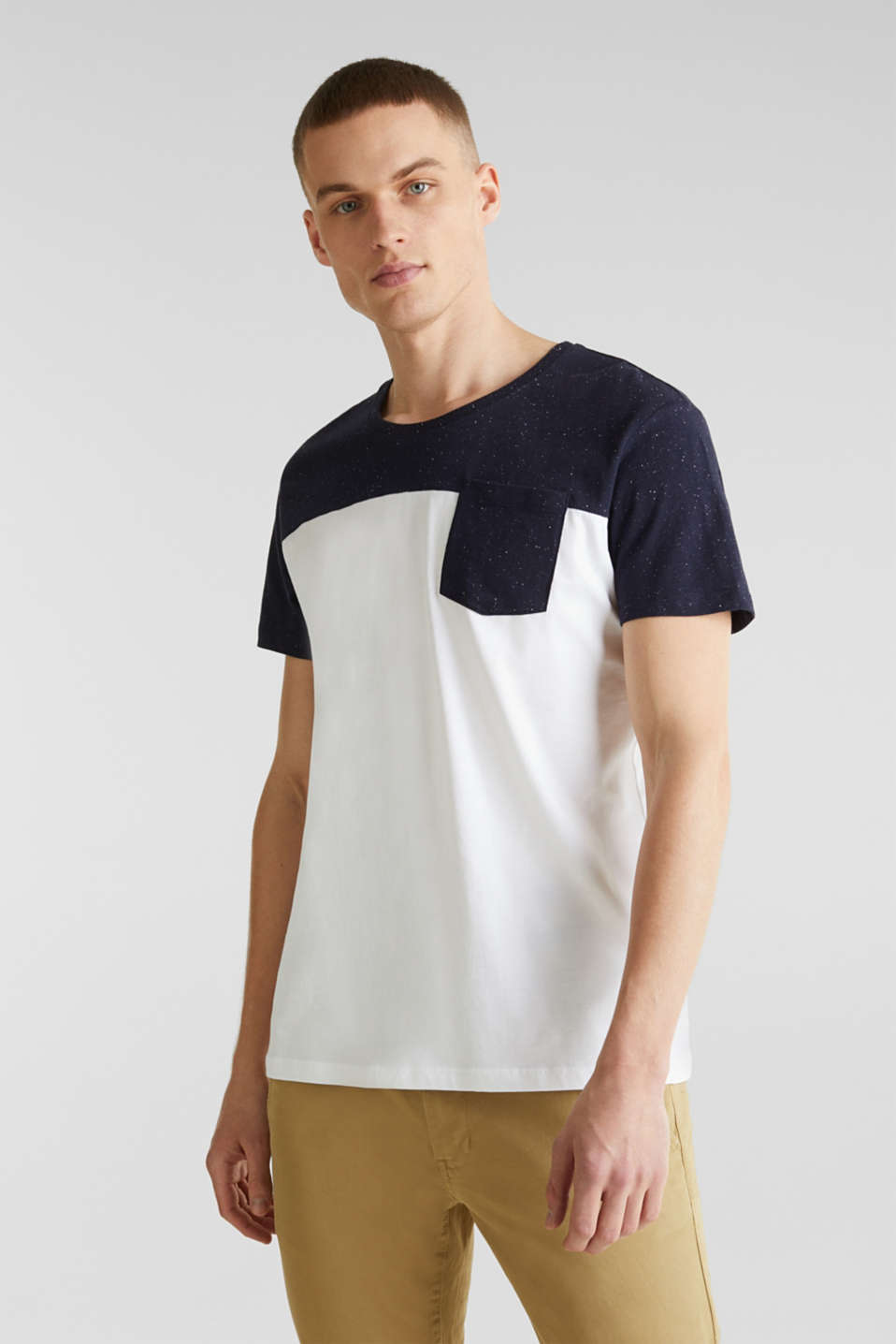 Jersey T-shirt in 100% cotton, WHITE 2, detail image number 0