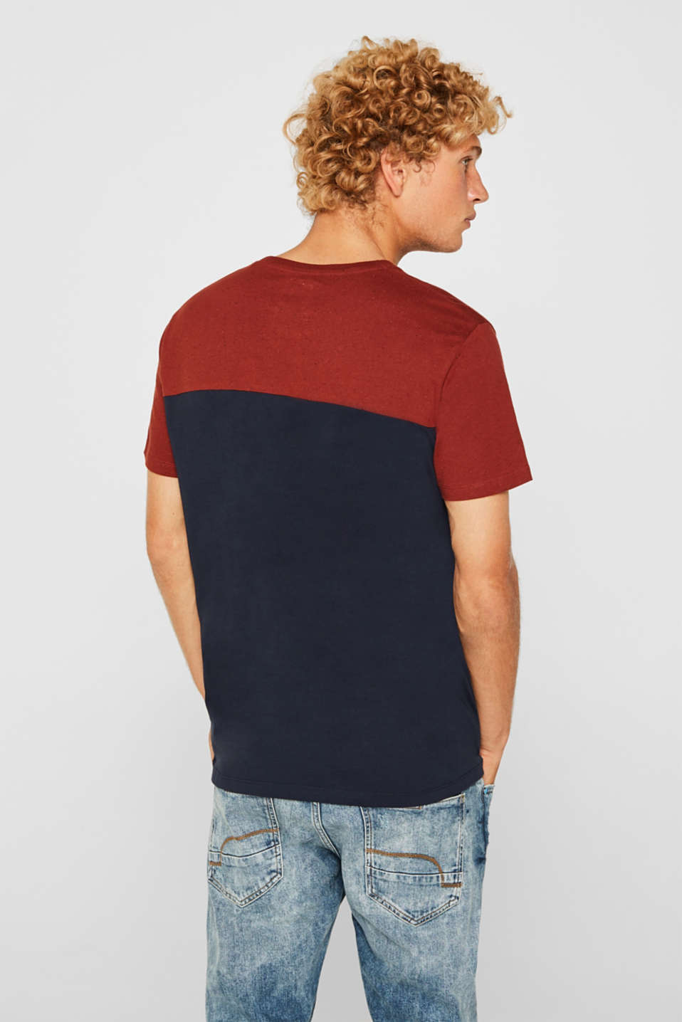 Jersey T-shirt in 100% cotton, NAVY 2, detail image number 3