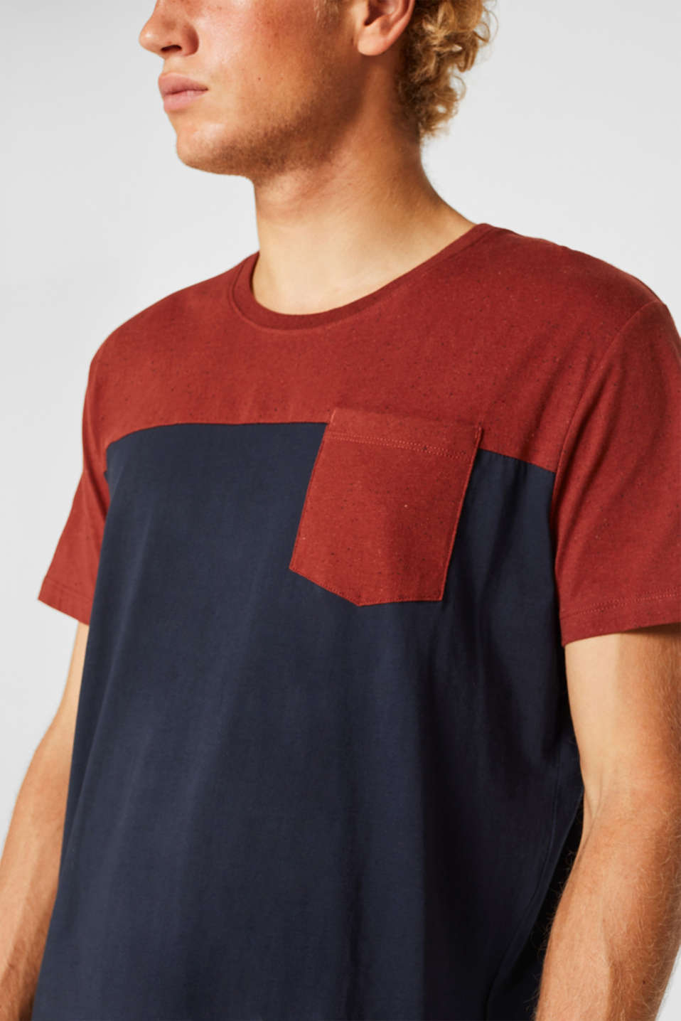Jersey T-shirt in 100% cotton, NAVY 2, detail image number 1