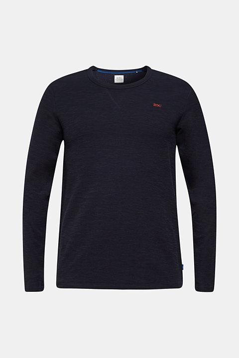 Textured cotton blend jumper