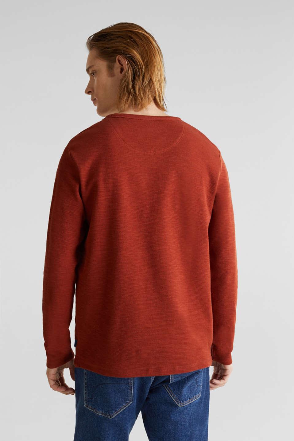 Textured cotton blend jumper, RUST ORANGE, detail image number 2