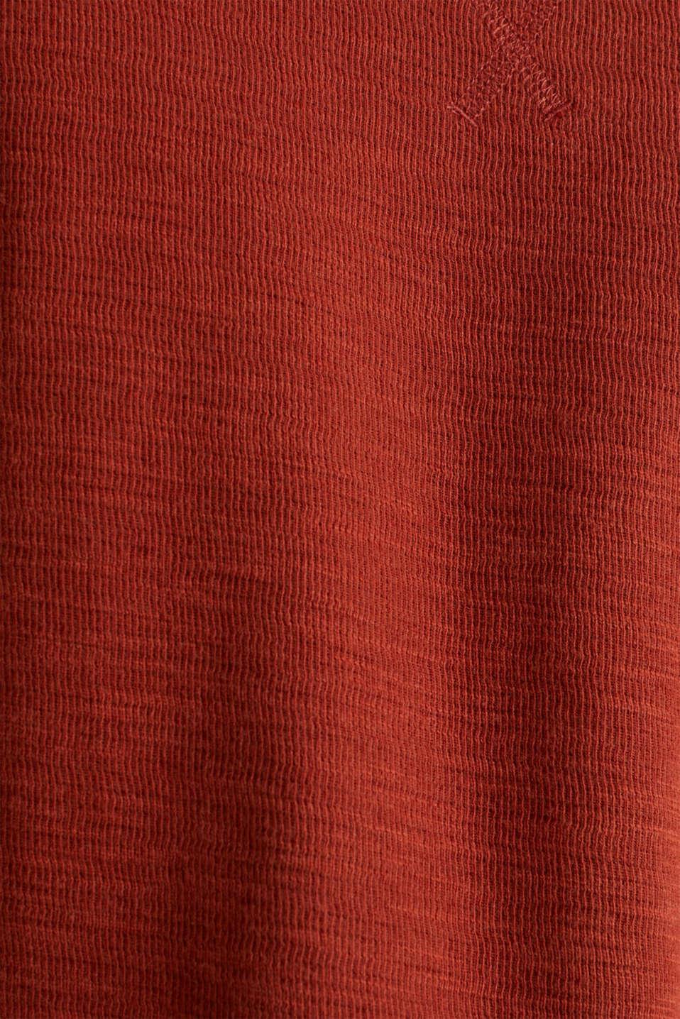 Textured cotton blend jumper, RUST ORANGE, detail image number 4