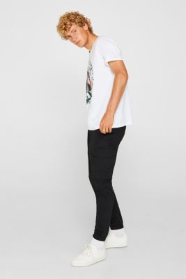 Jersey T-shirt in 100% cotton, WHITE, detail