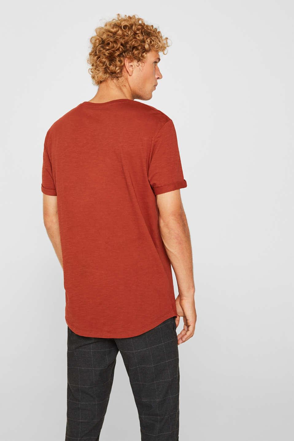 Slub jersey T-shirt in 100% cotton, RUST ORANGE, detail image number 3