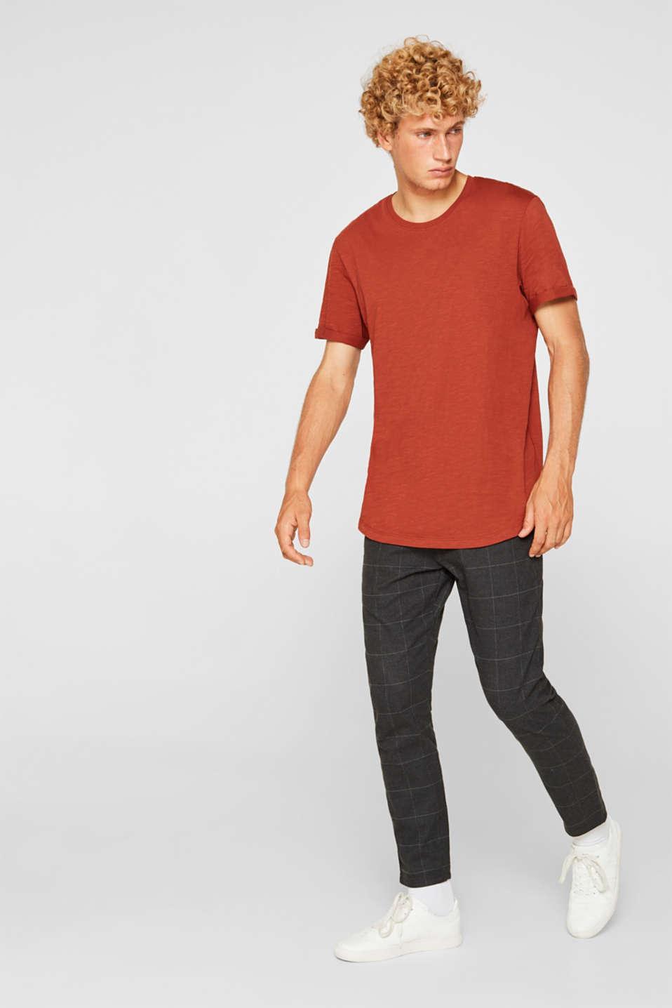 Slub jersey T-shirt in 100% cotton, RUST ORANGE, detail image number 2