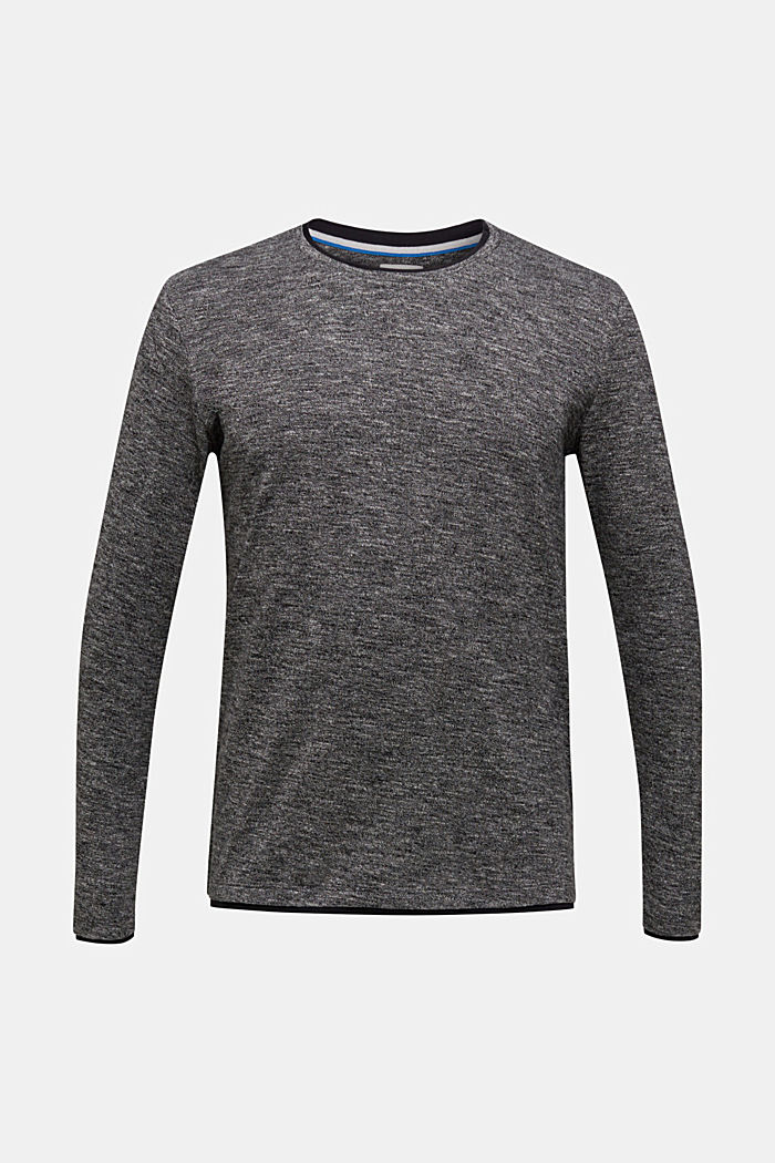 Gemêleerde jersey longsleeve, MEDIUM GREY, detail image number 7