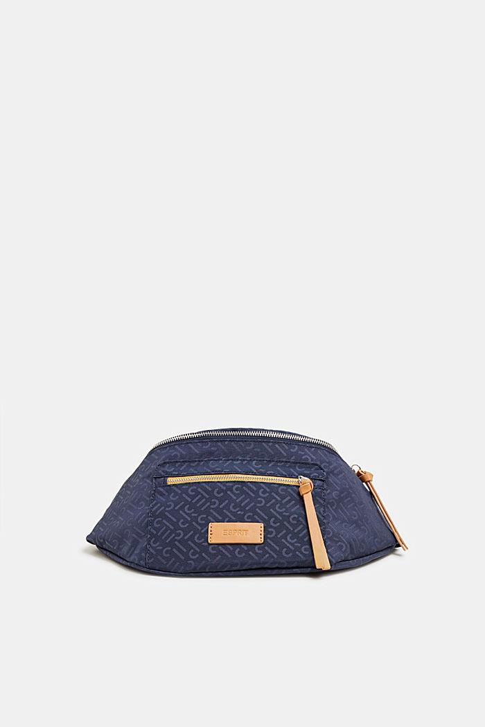 Belt bag with a monogram print, NAVY 2, detail image number 0