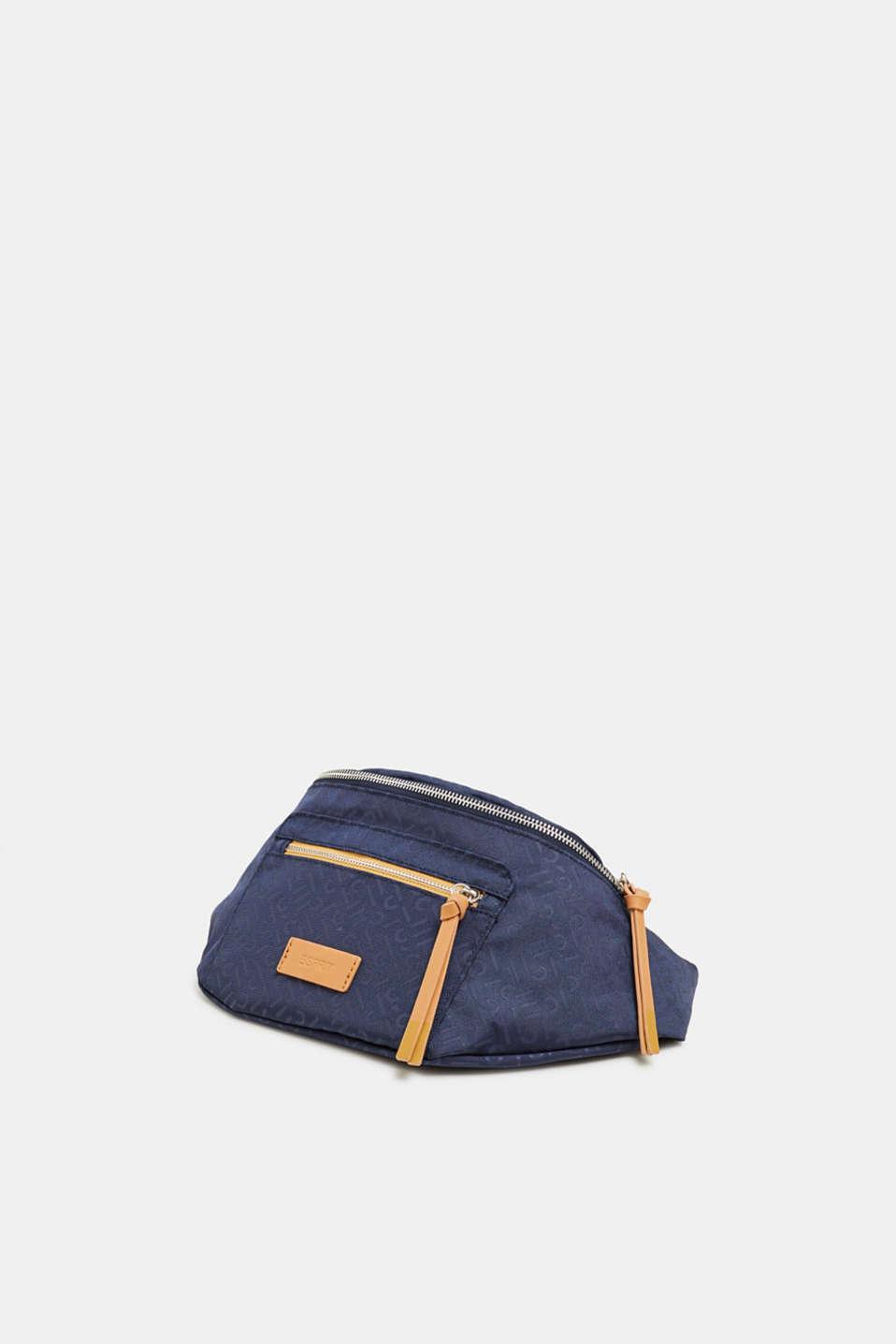 Belt bag with a monogram print, NAVY 2, detail image number 2