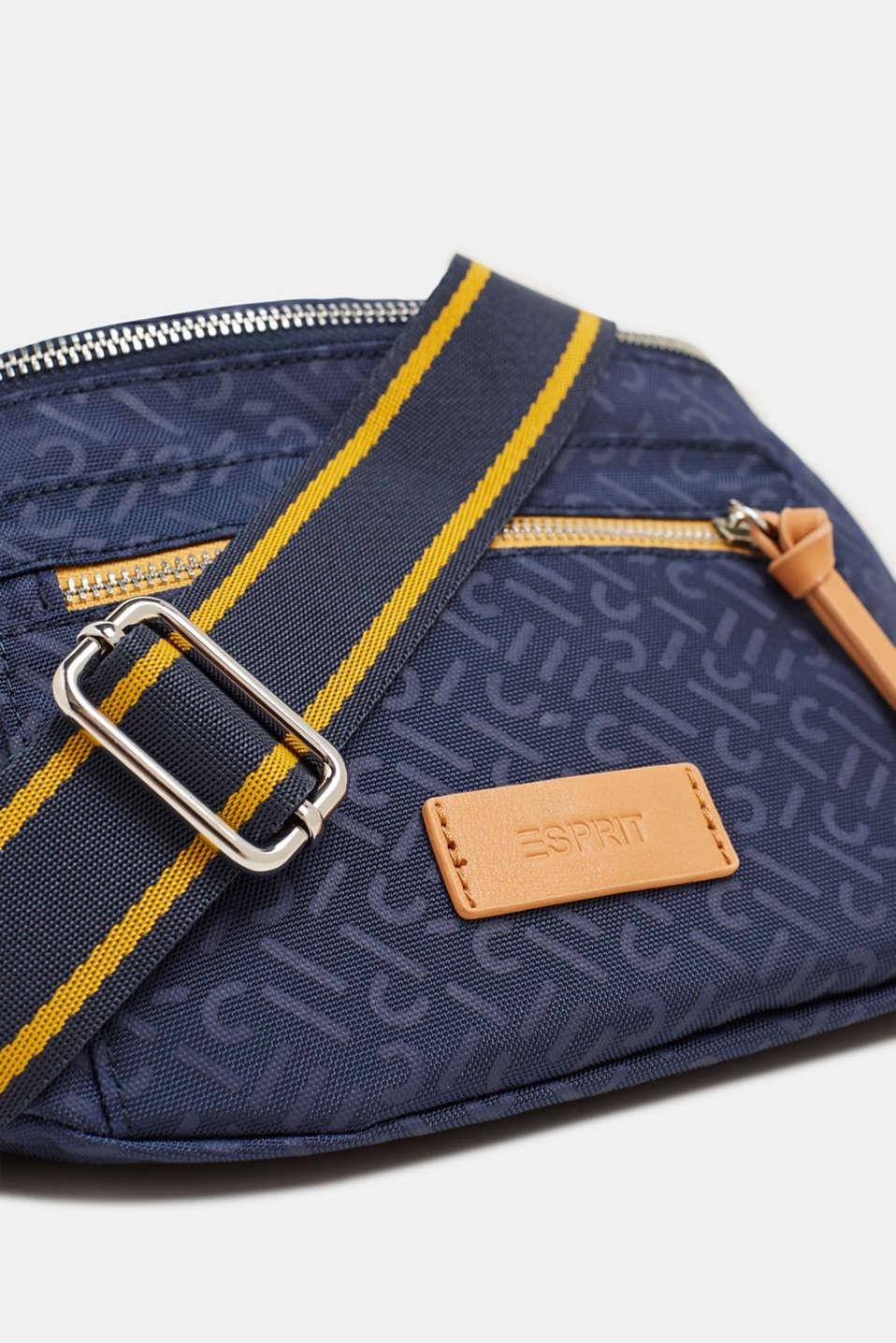 Belt bag with a monogram print, NAVY 2, detail image number 3