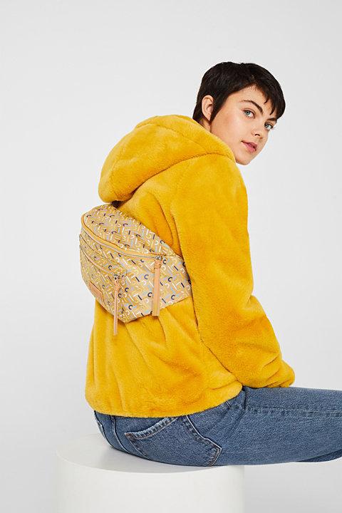 Belt bag with a monogram print