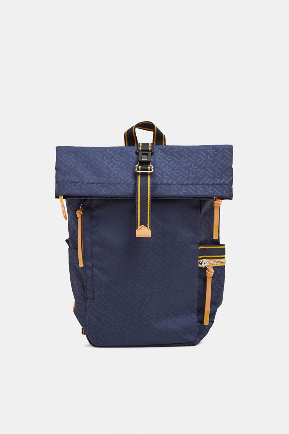 Nylon rucksack with a monogram, NAVY 2, detail image number 0