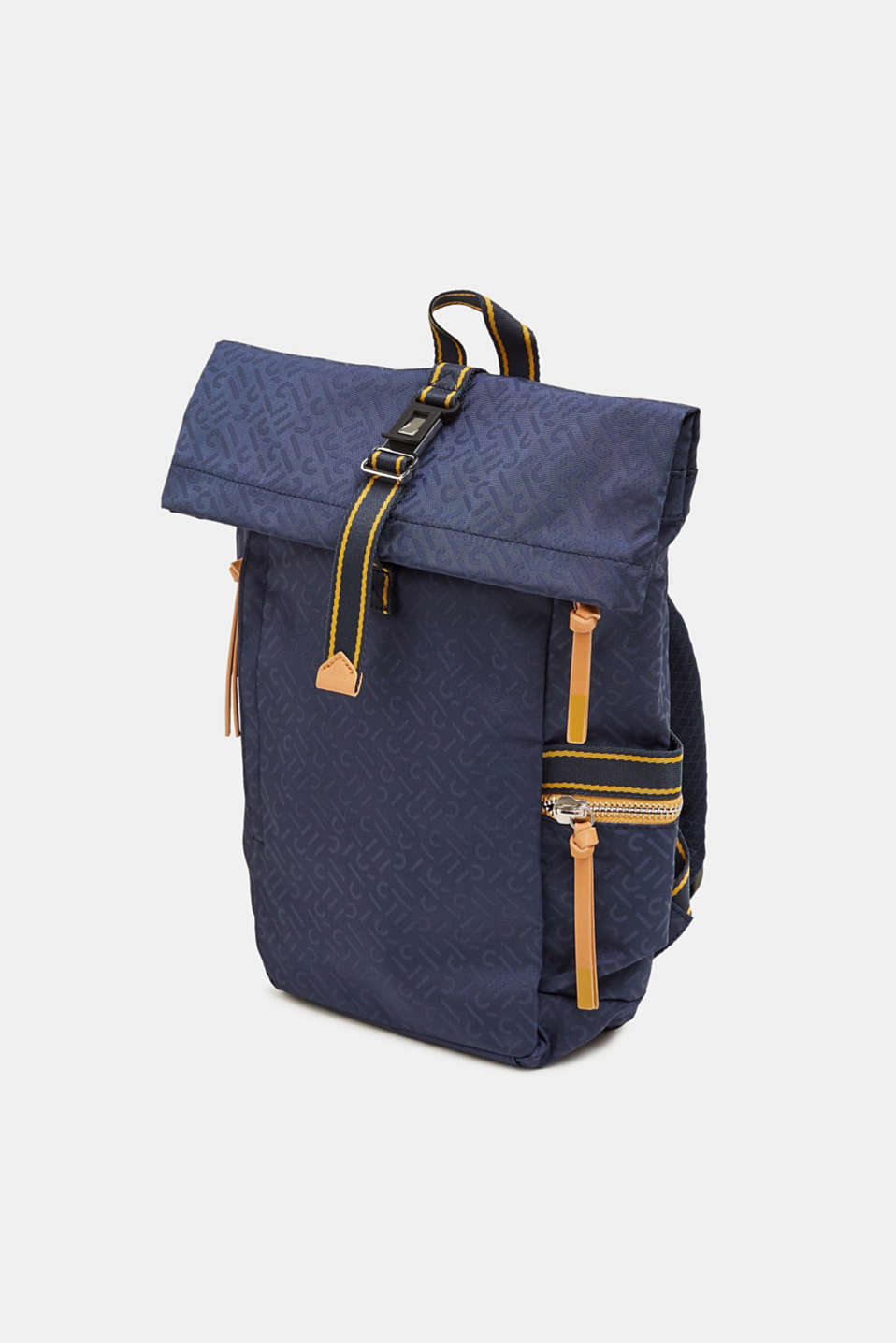 Nylon rucksack with a monogram, NAVY 2, detail image number 2