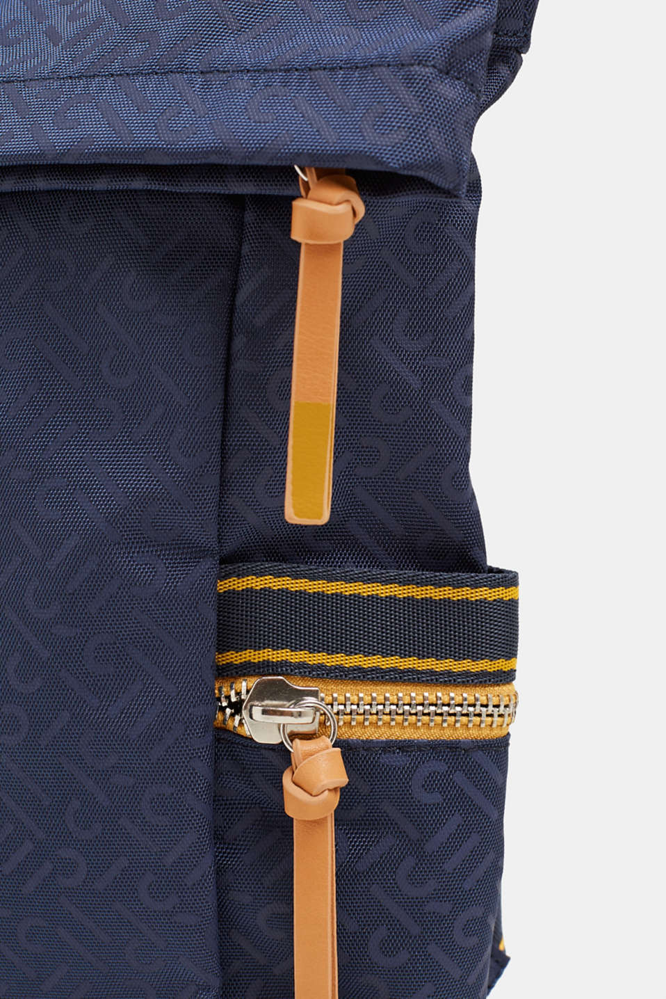 Nylon rucksack with a monogram, NAVY 2, detail image number 4