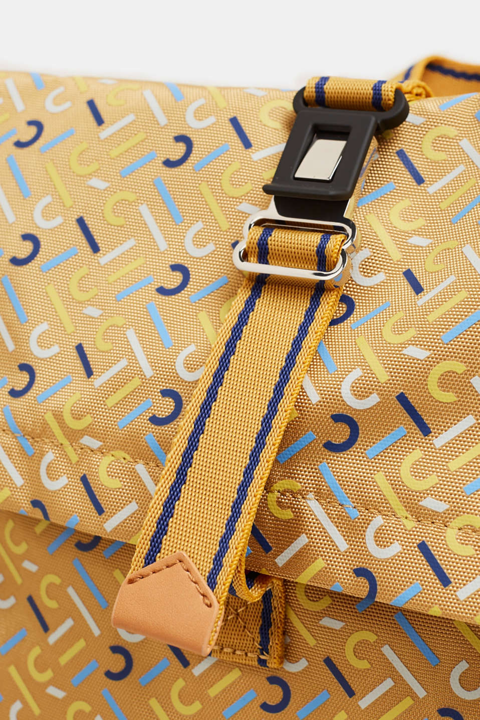 Rucksack with an all-over logo print, YELLOW, detail image number 3