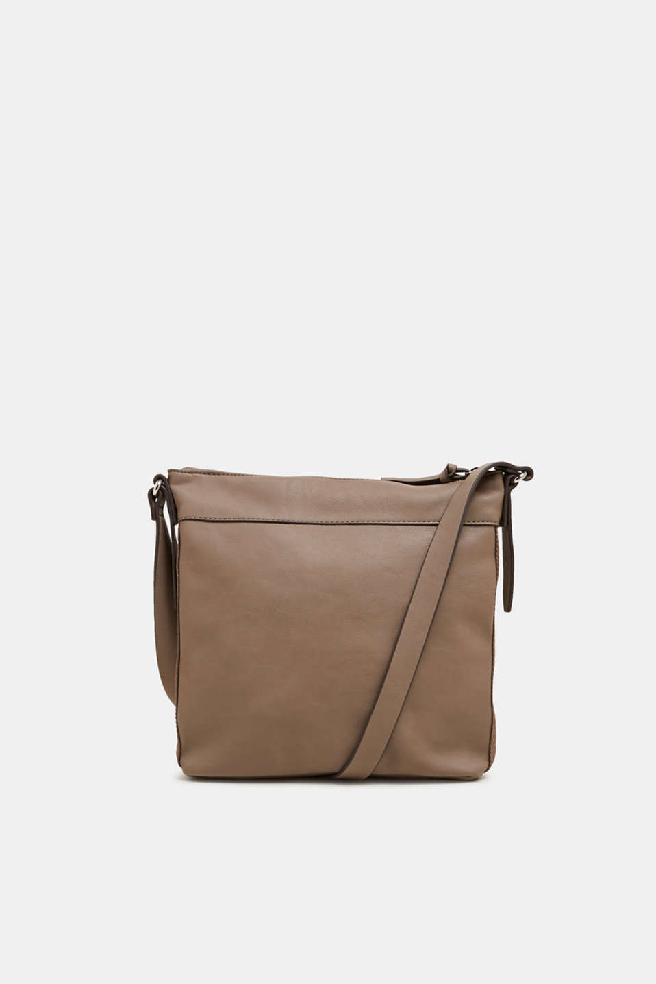Shoulder bag with logo woven tape, TAUPE, detail image number 0