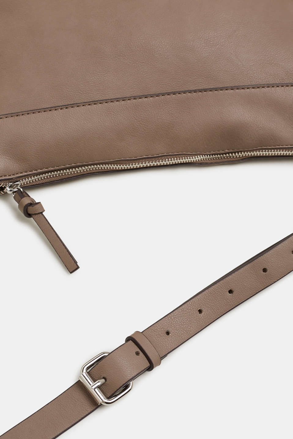 Shoulder bag with logo woven tape, TAUPE, detail image number 4
