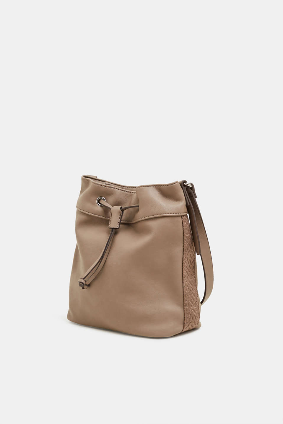 Faux leather bucket bag, TAUPE, detail image number 2