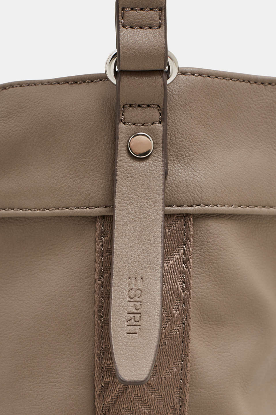 Faux leather bucket bag, TAUPE, detail image number 3