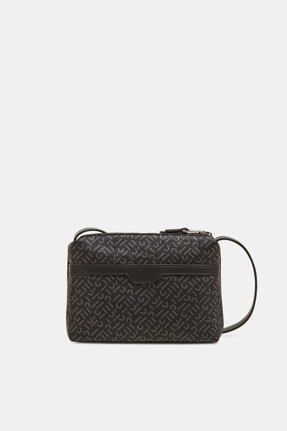 Faux leather shoulder bag, BLACK, detail image number 0