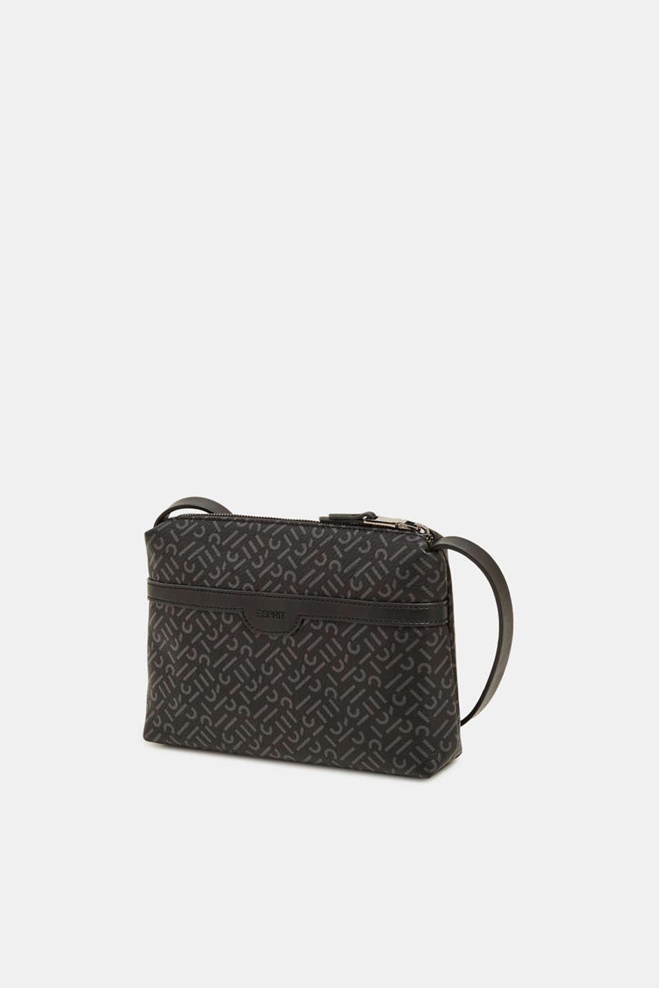 Faux leather shoulder bag, BLACK, detail image number 2