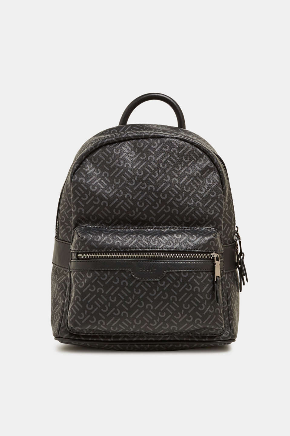 Esprit - Monogram rucksack made of faux leather