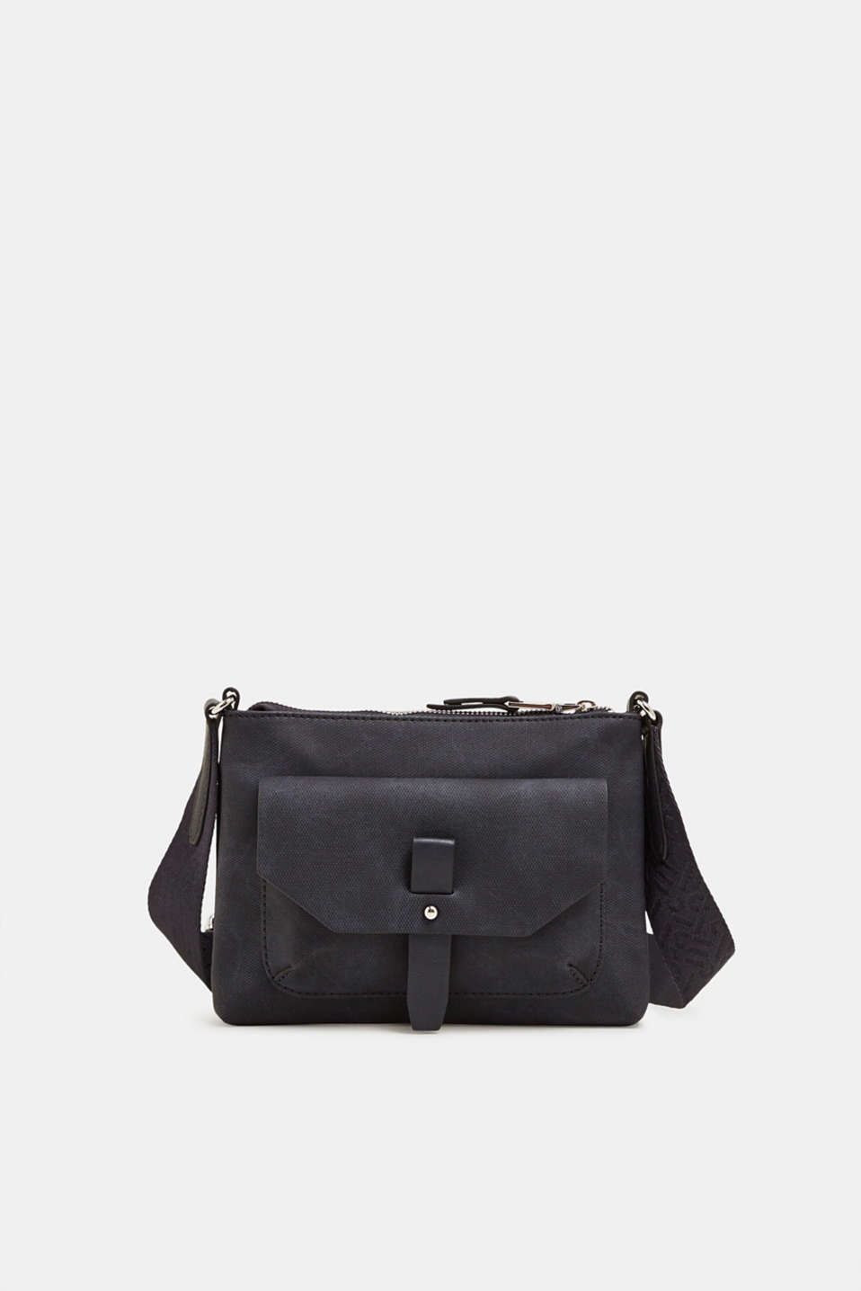 Esprit - Small faux leather bag with a logo strap