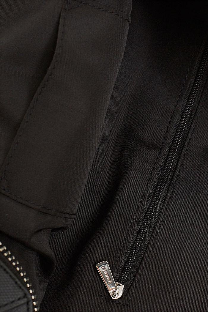 City bag in leerlook, BLACK, detail image number 3