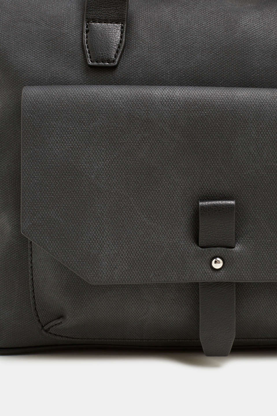 Faux leather tote bag, BLACK, detail image number 3