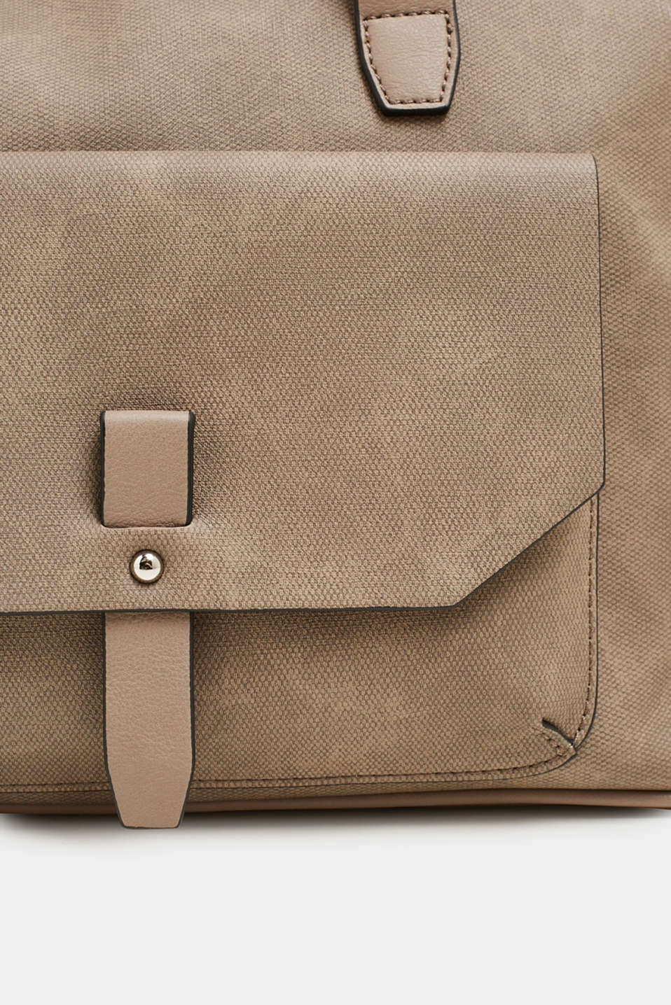 Faux leather tote bag, TAUPE, detail image number 3