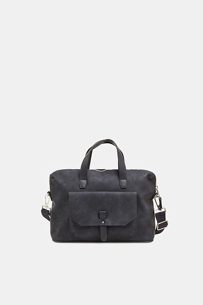 City bag in leerlook, NAVY, detail image number 0