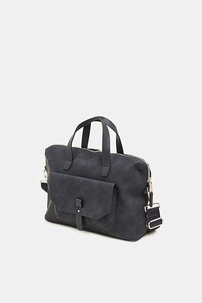 City bag in leerlook, NAVY, detail image number 1