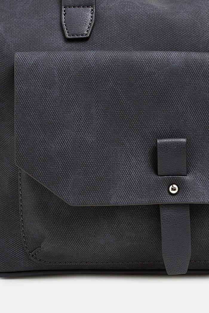City bag in leerlook, NAVY, detail image number 2