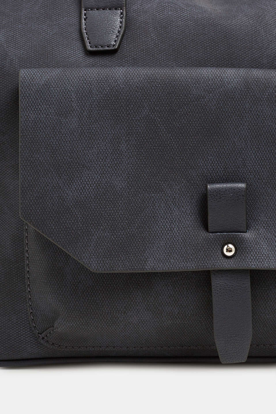 Faux leather tote bag, NAVY, detail image number 3
