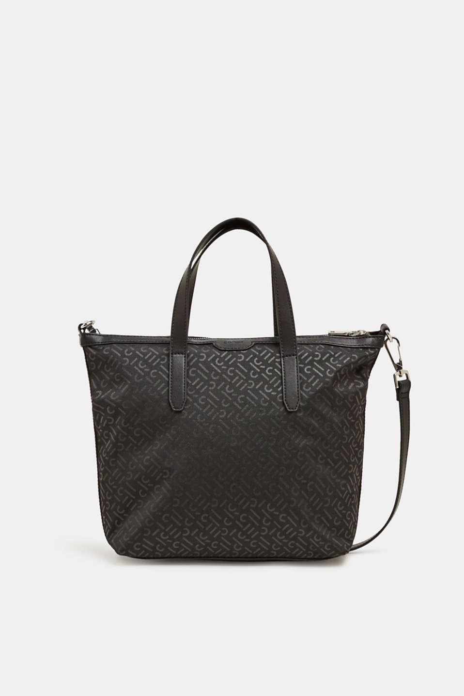Monogram shoulder bag made of nylon, BLACK, detail image number 0