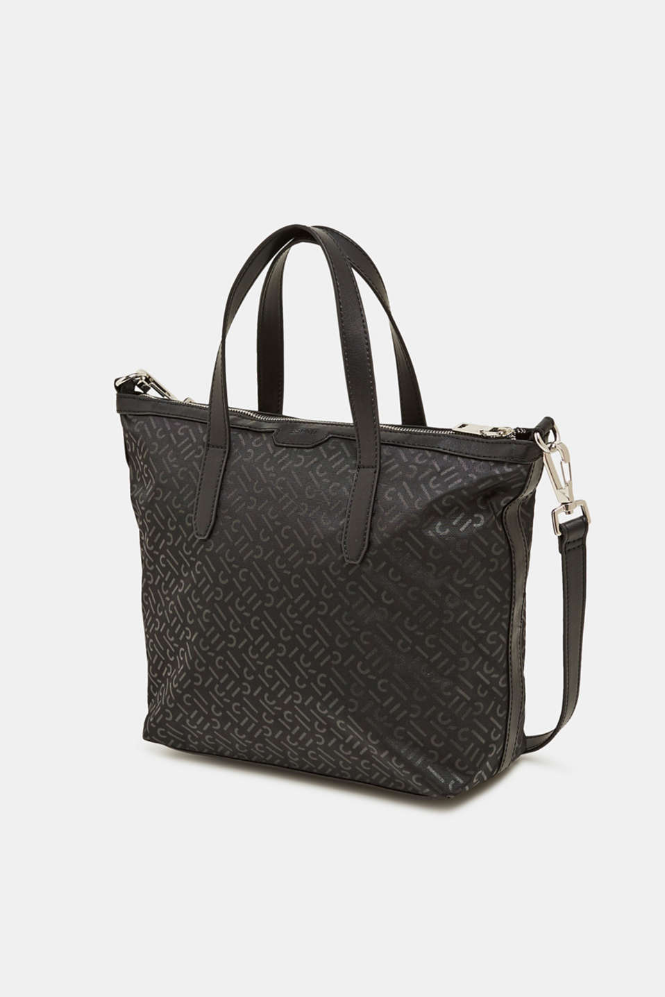 Monogram shoulder bag made of nylon, BLACK, detail image number 2
