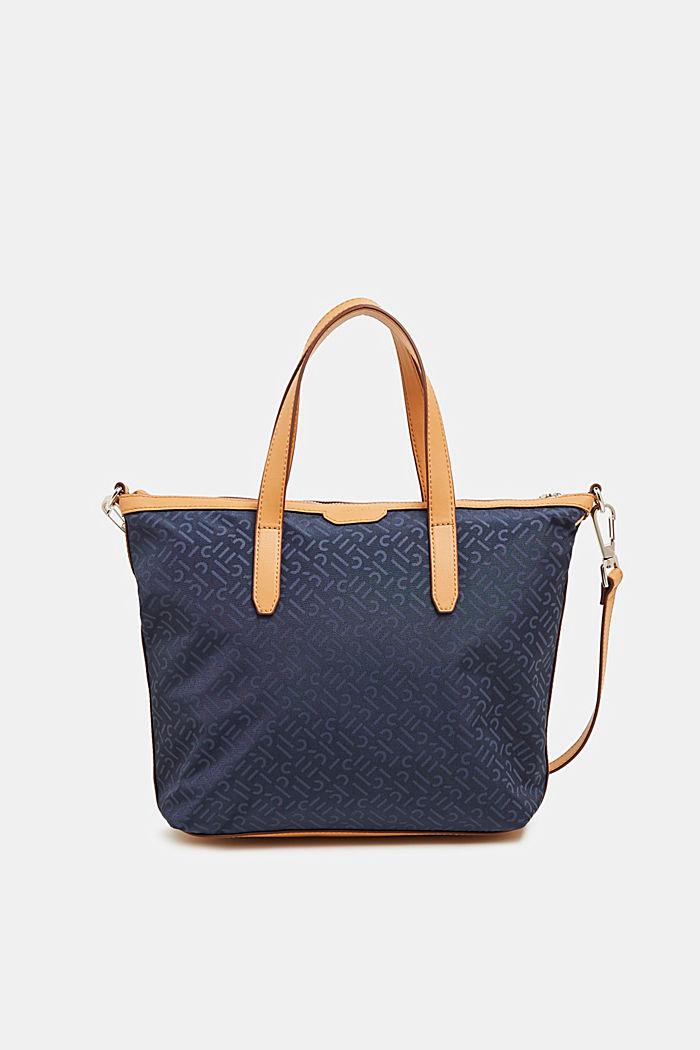 Monogram shoulder bag made of nylon, NAVY, detail image number 0