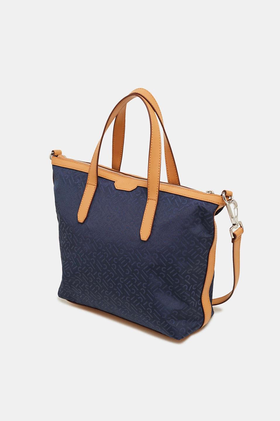 Monogram shoulder bag made of nylon, NAVY, detail image number 2