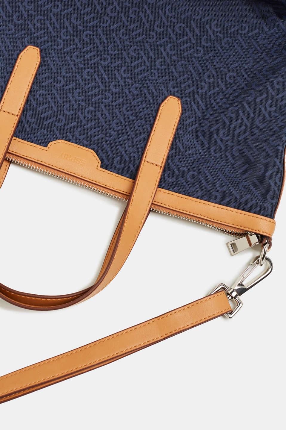Monogram shoulder bag made of nylon, NAVY, detail image number 5