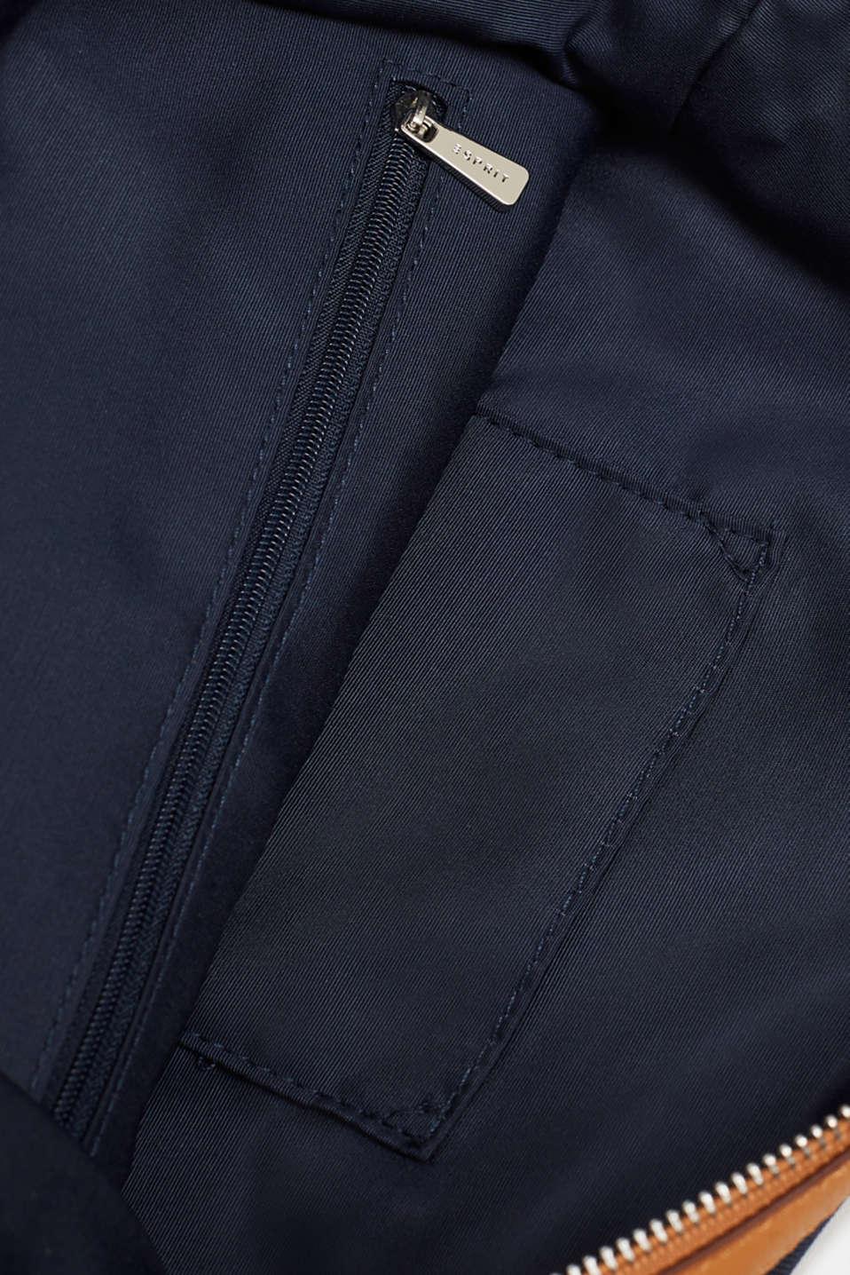 Monogram shoulder bag made of nylon, NAVY, detail image number 4