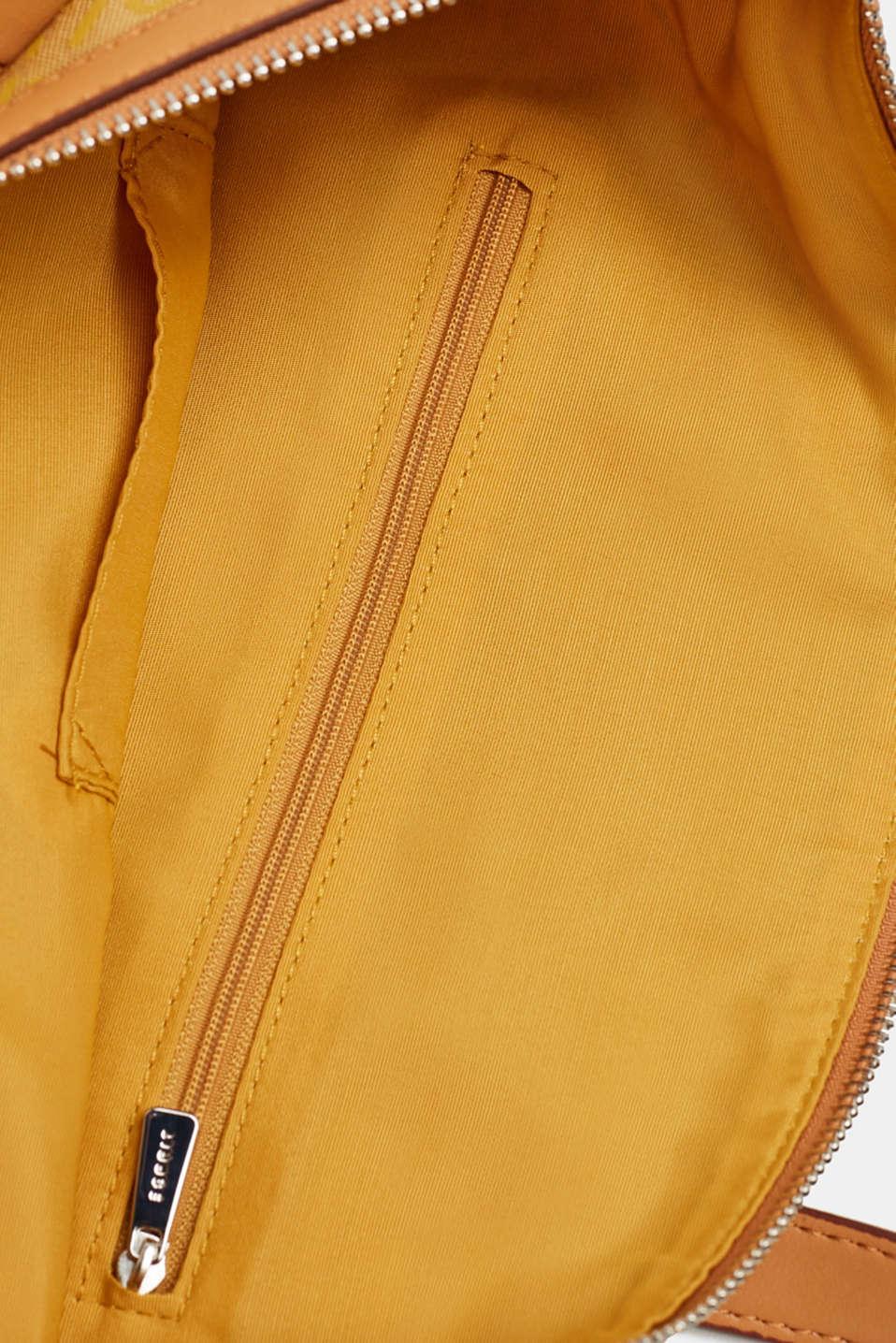 Monogram shoulder bag made of nylon, YELLOW, detail image number 4