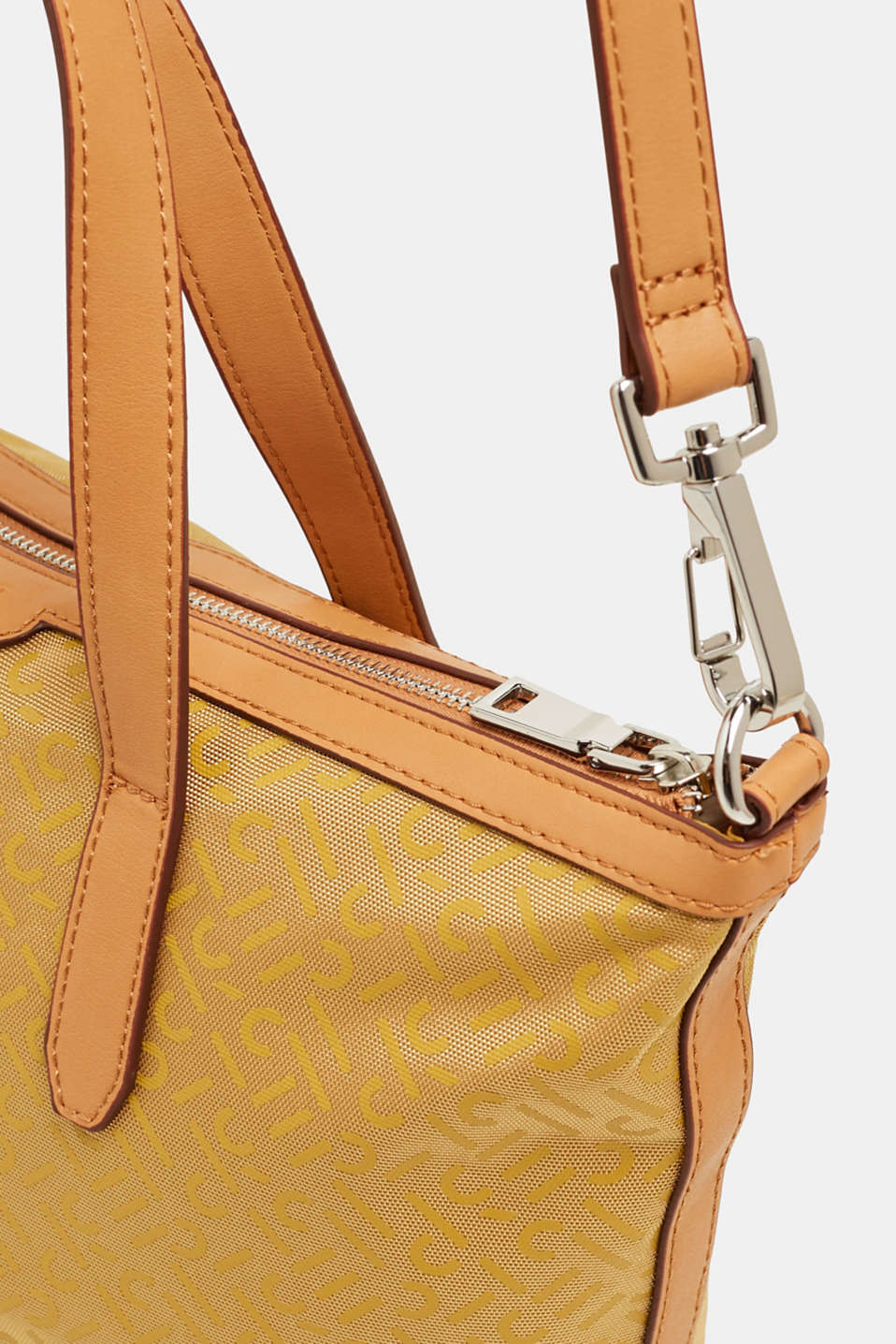 Monogram shoulder bag made of nylon, YELLOW, detail image number 3