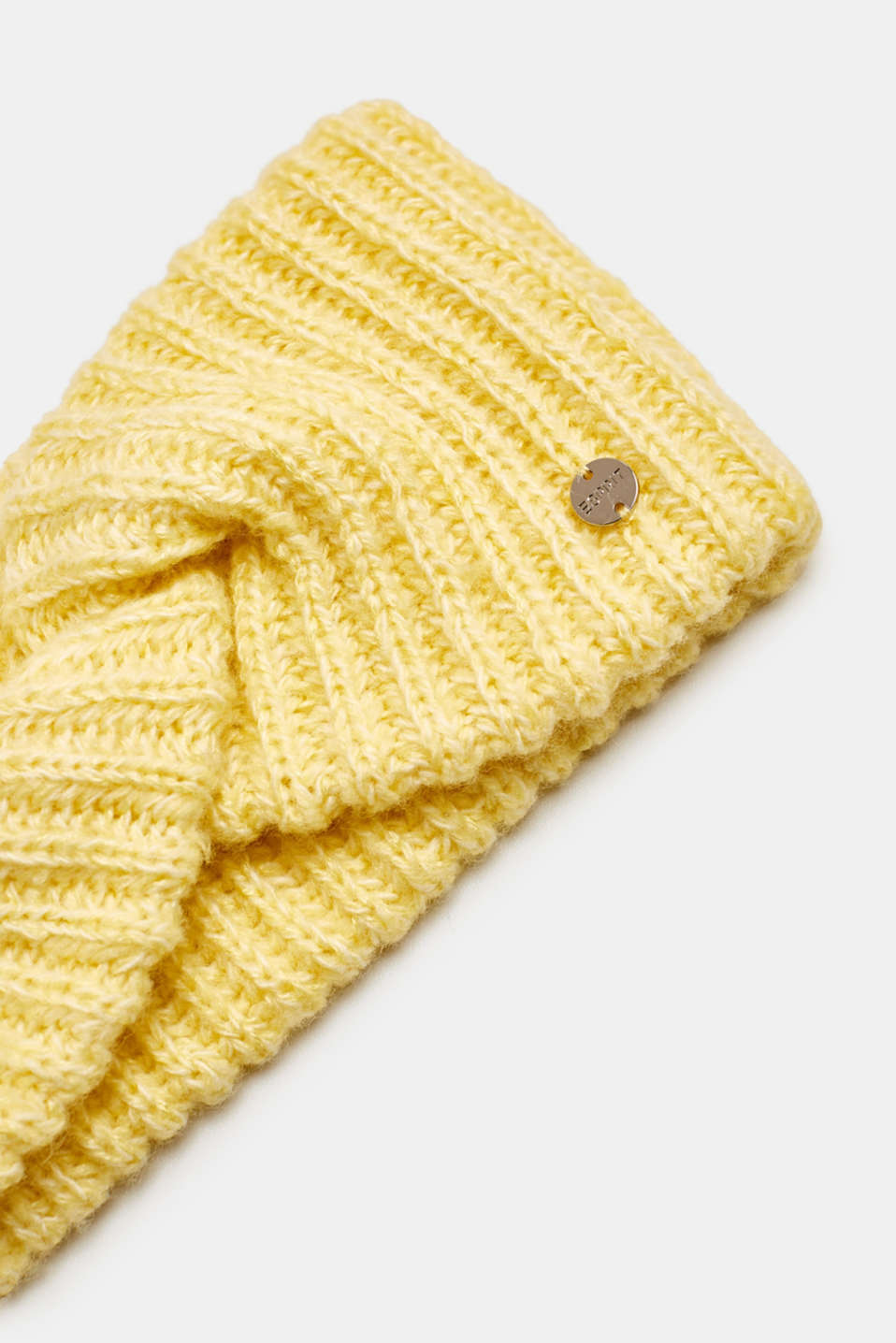 Blended wool: Headband with knot detail, DUSTY YELLOW, detail image number 1