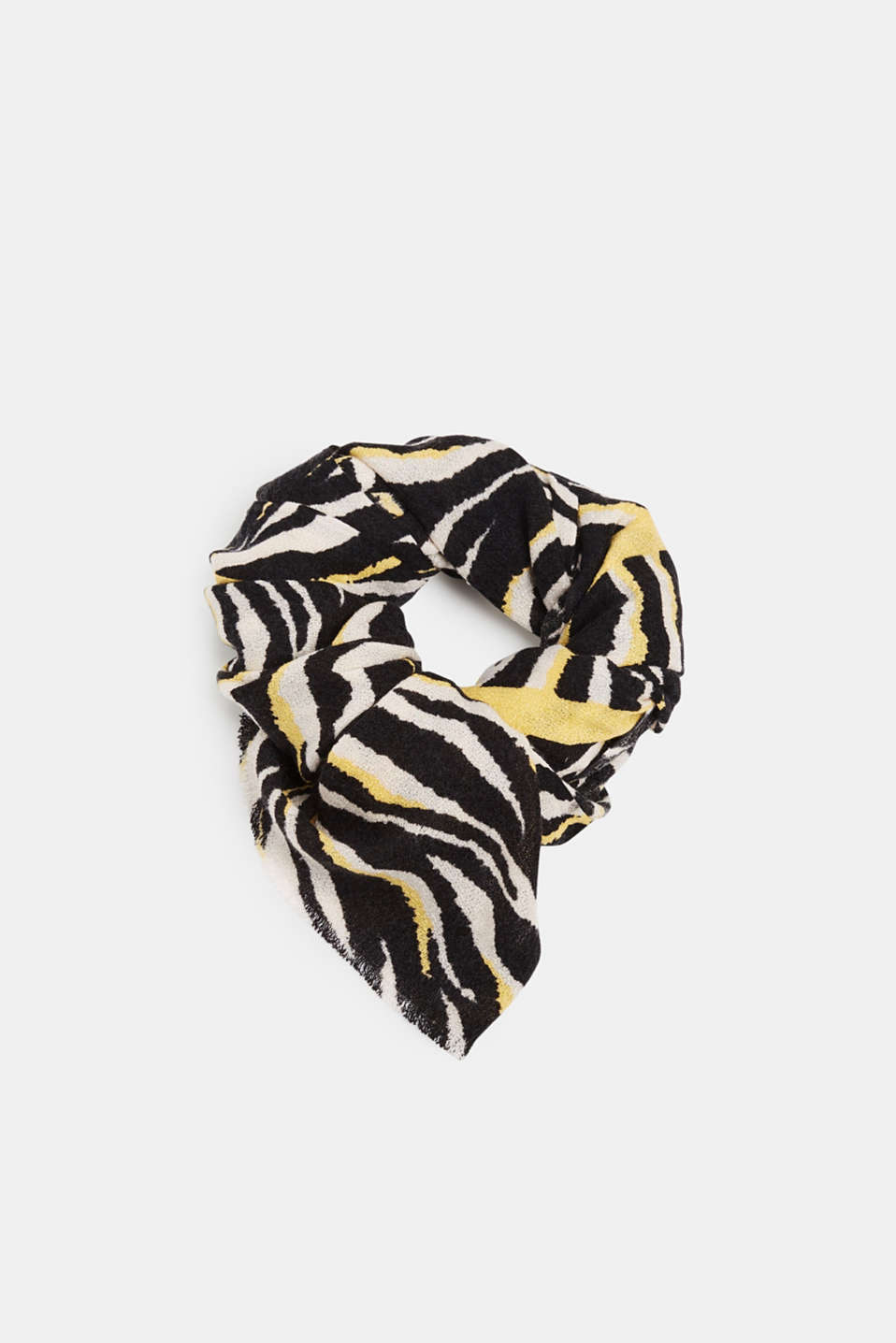Esprit - Scarf with zebra pattern