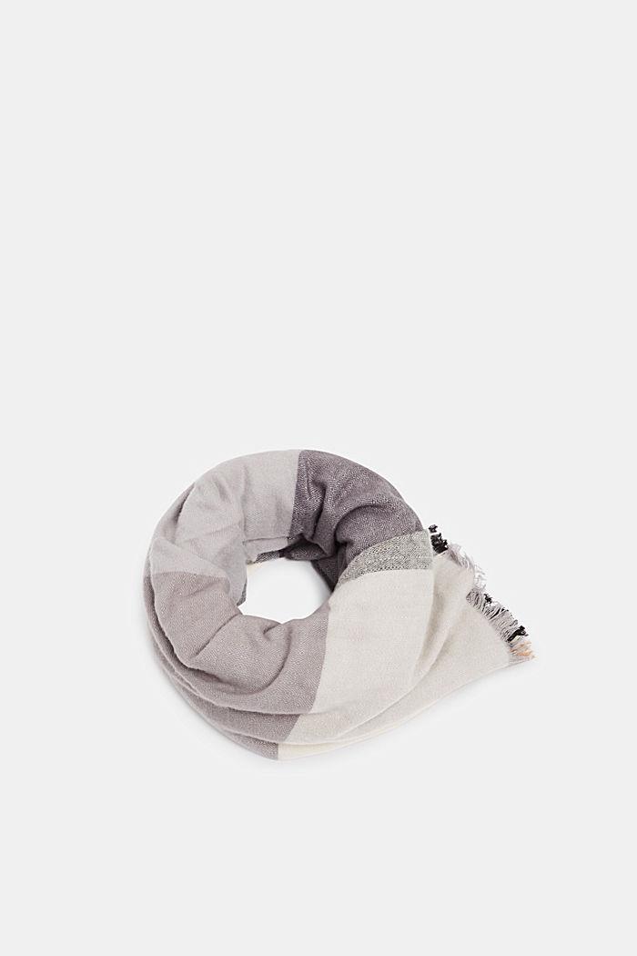 Tørklæde med LENZING™ ECOVERO™, GREY, detail image number 0