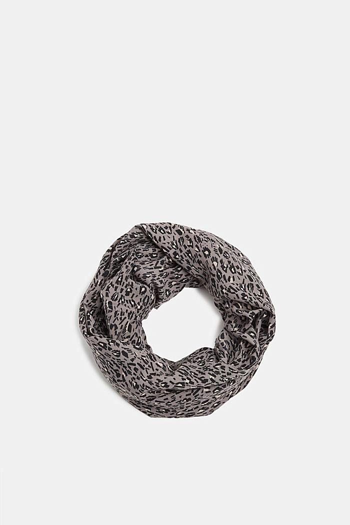 Loop-Schal mit Animal-Print, GREY, detail image number 0