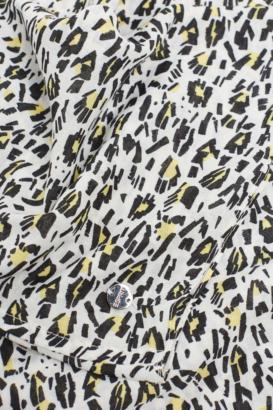 Snood scarf with an animal print, OFF WHITE, detail image number 2