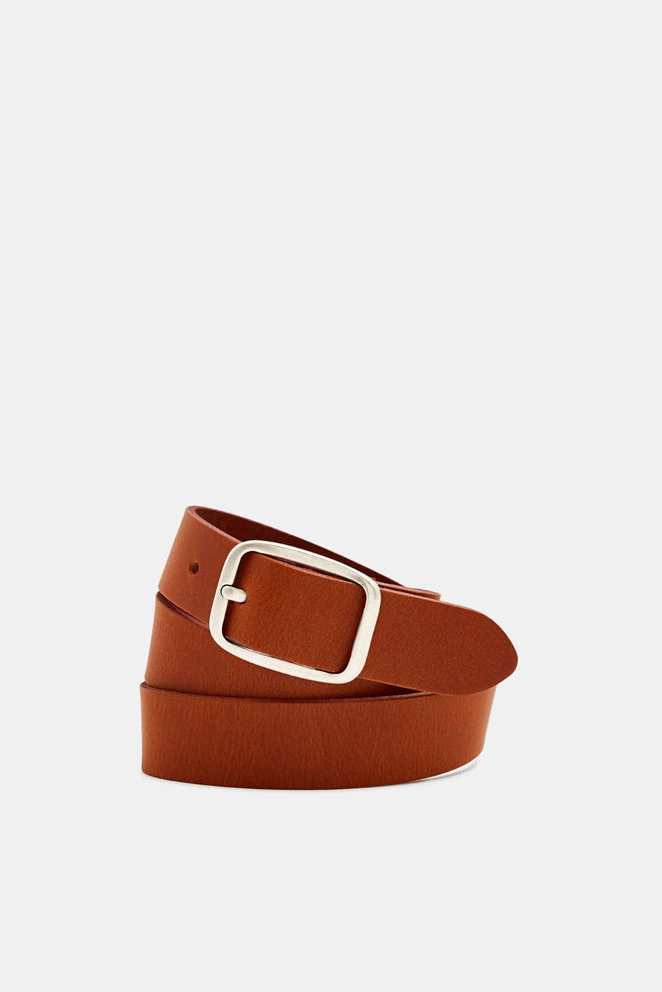 Leather belt, RUST BROWN, detail image number 0