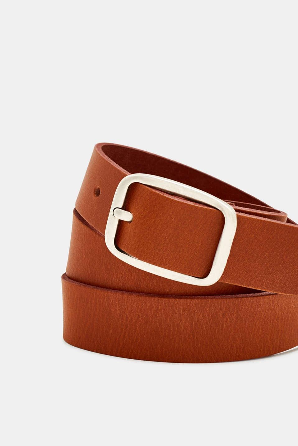 Leather belt, RUST BROWN, detail image number 1